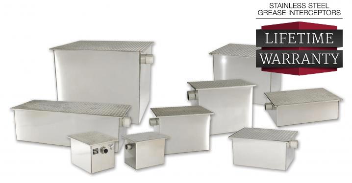 Rockford Separators Stainless Steel Grease Trap