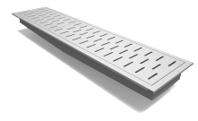 """Rockford Separator Stainless Steel 12"""" Center Outlet Trench Drain"""