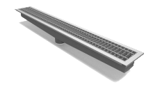 """Rockford Separator Stainless Steel 6"""" Center Outlet Trench Drain"""